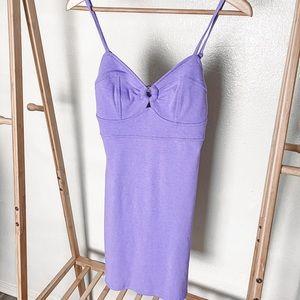 Wild Fable Purple Keyhole Bodycon Dress